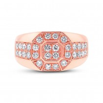 1.18ct 14k Rose Gold Diamond Men's Ring|escape