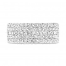 1.63ct 14k White Gold Diamond Lady's Pave Band