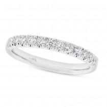 0.37ct 18k White Gold Diamond Lady's Band Size 6.5