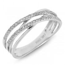 0.21ct 14k White Gold Diamond Bridge Ring