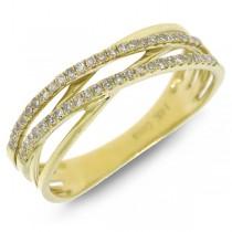 0.21ct 14k Yellow Gold Diamond Bridge Ring