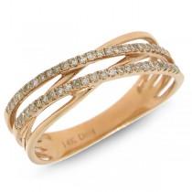 0.21ct 14k Rose Gold Diamond Bridge Ring