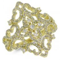 0.75ct 14k Yellow Gold Diamond Lady's Ring