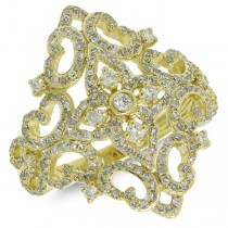 0.75ct 18k Yellow Gold Diamond Lady's Ring