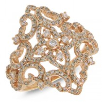0.75ct 14k Rose Gold Diamond Lady's Ring