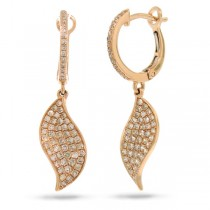 0.67ct 14k Rose Gold Diamond Earrings