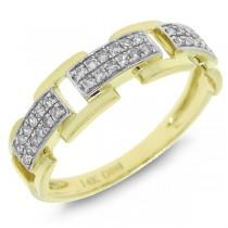 0.18ct 14k Yellow Gold Diamond Link Ring
