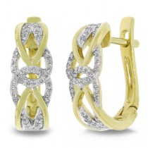 0.20ct 14k Yellow Gold Diamond Earrings
