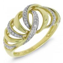 0.17ct 14k Yellow Gold Diamond Lady's Ring