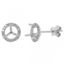 0.16ct 14k White Gold Diamond Semi-mount Earrings