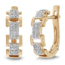 0.19ct 14k Rose Gold Diamond Link Earrings