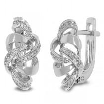 0.15ct 14k White Gold Diamond Earrings