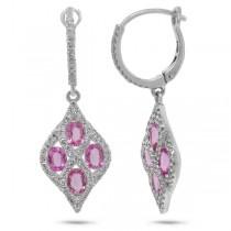 0.49ct Diamond & 1.71ct Pink Sapphire 14k White Gold