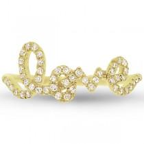 0.28ct 14k Yellow Gold Diamond ''Love'' Ring