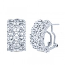 1.03ct 14k White Gold Diamond Earrings