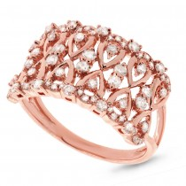 0.61ct 14k Rose Gold Diamond Lady's Ring