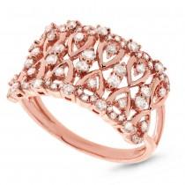 0.61ct 14k Rose Gold Diamond Lady's Ring