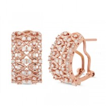 1.03ct 14k Rose Gold Diamond Earrings
