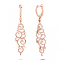 1.02ct 14k Rose Gold Diamond Earrings