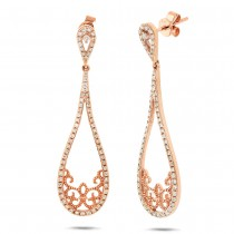 0.55ct 14k Rose Gold Diamond Earrings