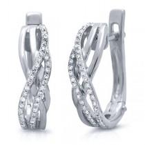 0.18ct 14k White Gold Diamond Earrings