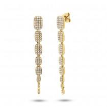 0.64ct 14k Yellow Gold Diamond Serpentine Earrings