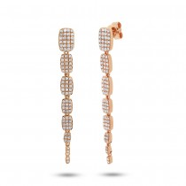 0.64ct 14k Rose Gold Diamond Serpentine Earrings