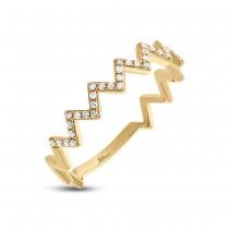 0.11ct 14k Yellow Gold Diamond Lady's Ring