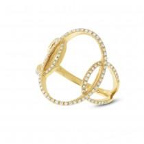 0.27ct 14k Yellow Gold Diamond Lady's Ring
