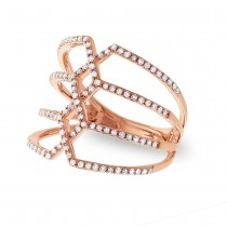 0.35ct 14k Rose Gold Diamond Lady's Ring