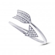 0.15ct 14k White Gold Diamond Arrow Ring
