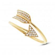 0.15ct 14k Yellow Gold Diamond Arrow Ring