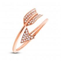 0.15ct 14k Rose Gold Diamond Arrow Ring