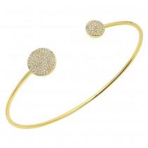 0.37ct 14k Yellow Gold Diamond Bangle