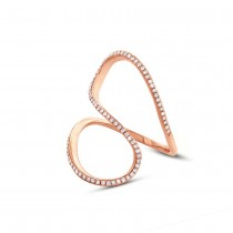 0.25ct 14k Rose Gold Diamond Lady's Ring
