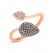 0.24ct 14k Rose Gold White & Champagne Diamond Ring