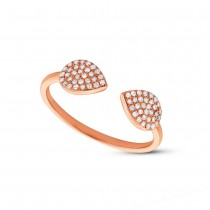 0.18ct 14k Rose Gold Diamond Lady's Ring