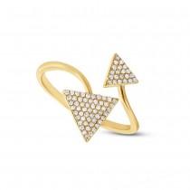 0.21ct 14k Yellow Gold Diamond Triangle Lady's Ring