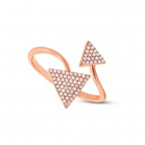 0.21ct 14k Rose Gold Diamond Triangle Lady's Ring