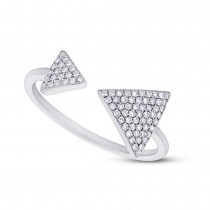 0.21ct 14k White Gold Diamond Triangle Lady's Ring