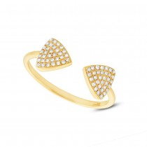 0.18ct 14k Yellow Gold Diamond Triangle Lady's Ring