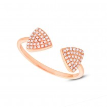 0.18ct 14k Rose Gold Diamond Triangle Lady's Ring