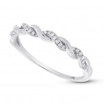 0.07ct 14k White Gold Diamond Lady's Ring