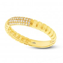 0.12ct 14k Yellow Gold Diamond Lady's Ring