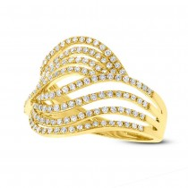 0.61ct 14k Yellow Gold Diamond Lady's Ring