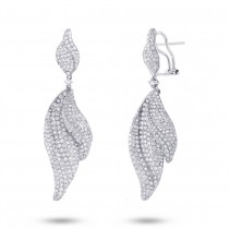6.18ct 18k White Gold Diamond Earrings