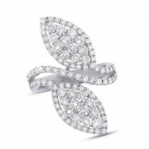 2.44ct 18k White Gold Diamond Lady's Ring