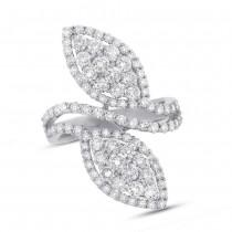 2.44ct 18k White Gold Diamond Lady's Ring