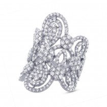 4.43ct 18k White Gold Diamond Lady's Ring