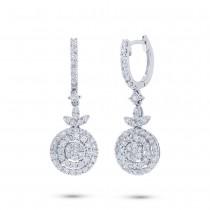 1.17ct 18k White Gold Diamond Earrings